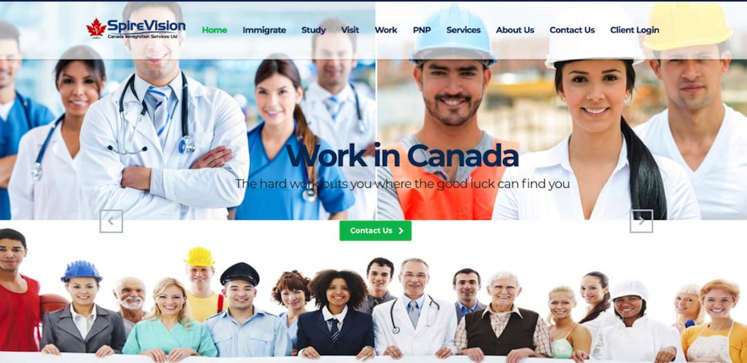 Immigration website design Surrey